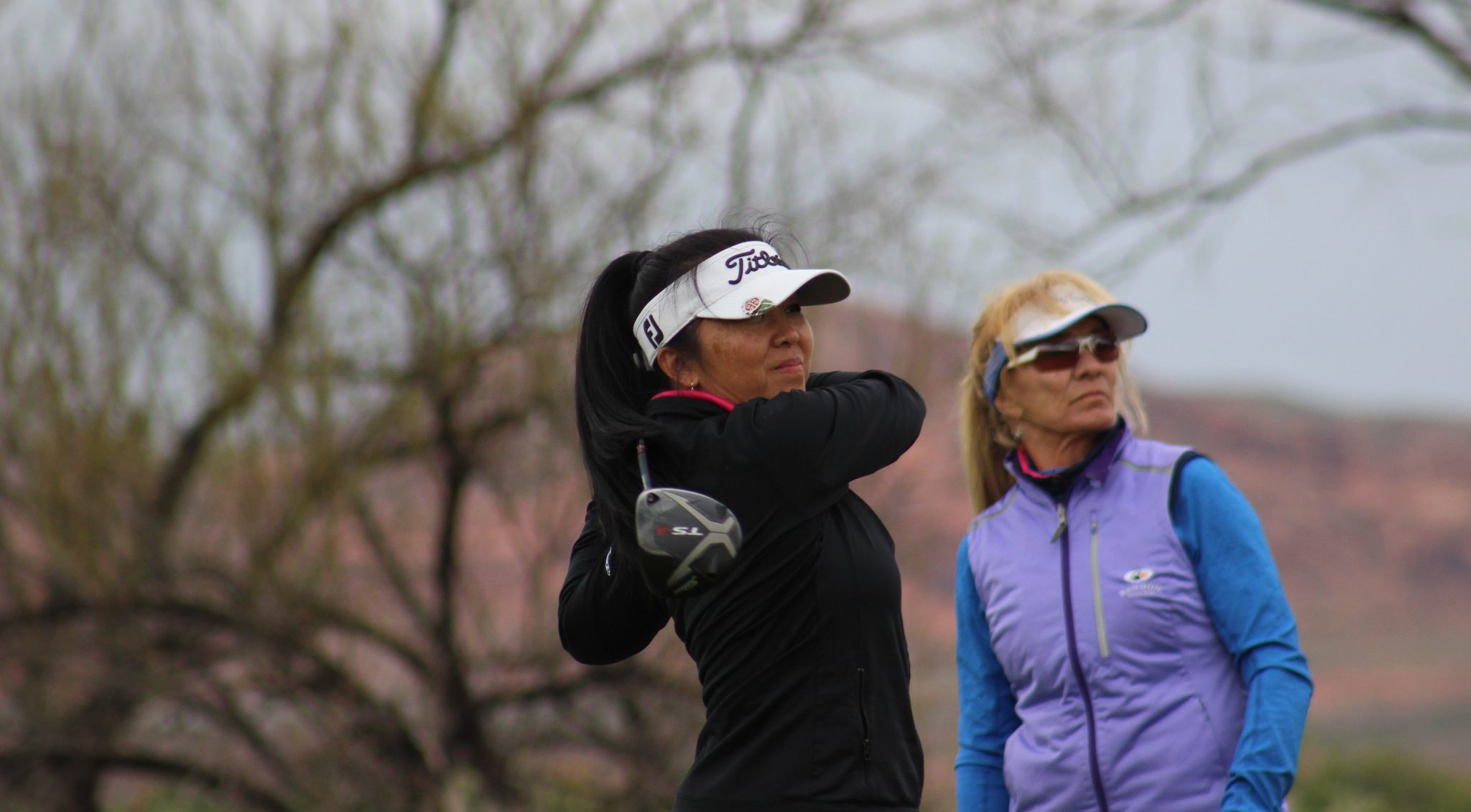 Nuny and Annette tee shot