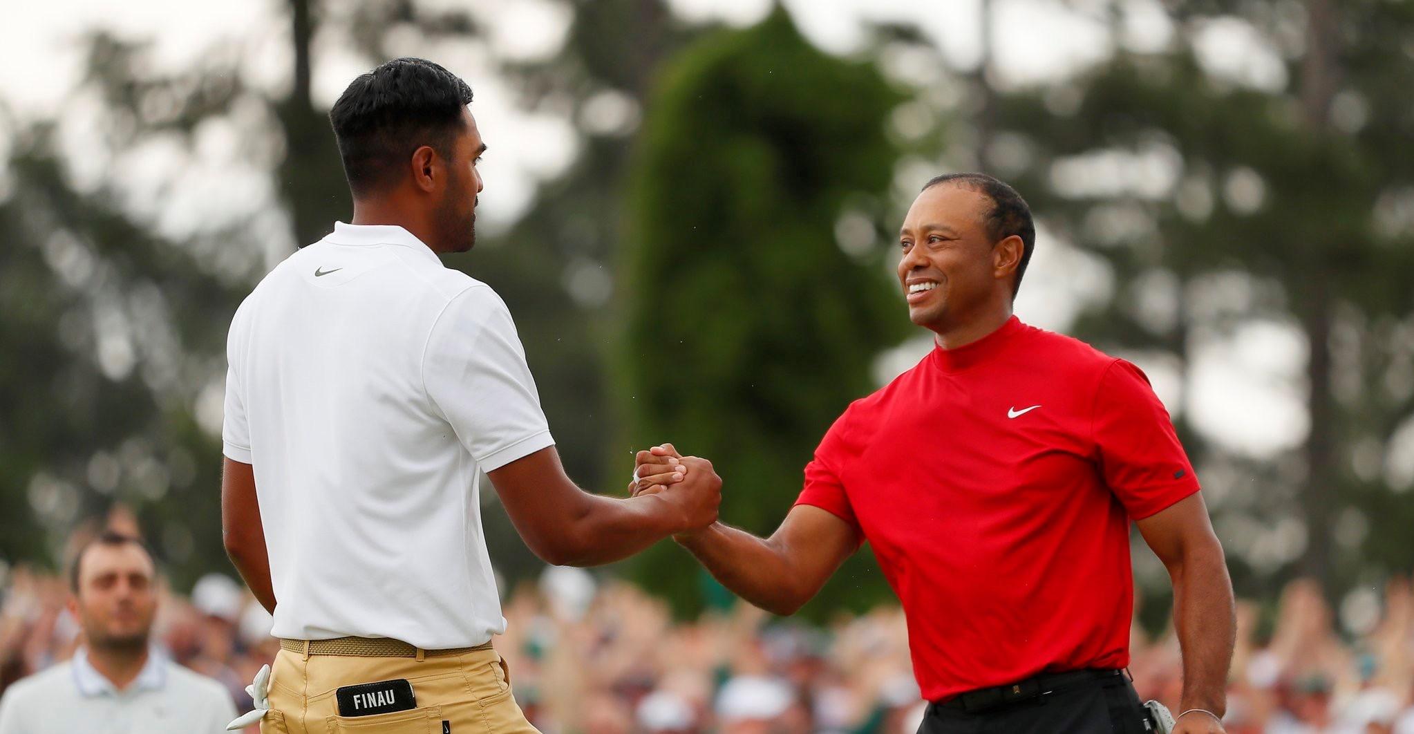 Tony Finau and Tiger Woods 2